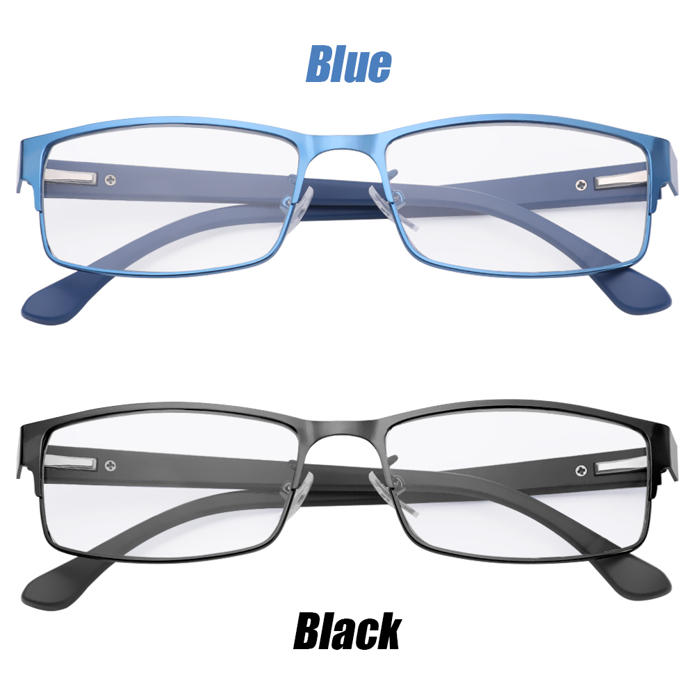 ☆YOLA☆ Men Eyeglasses Magnifying +1.00~+4.0 Diopter Business Reading Glasses Flexible Portable Metal Titanium Alloy New Fashion Ultra Light Resin Eye...