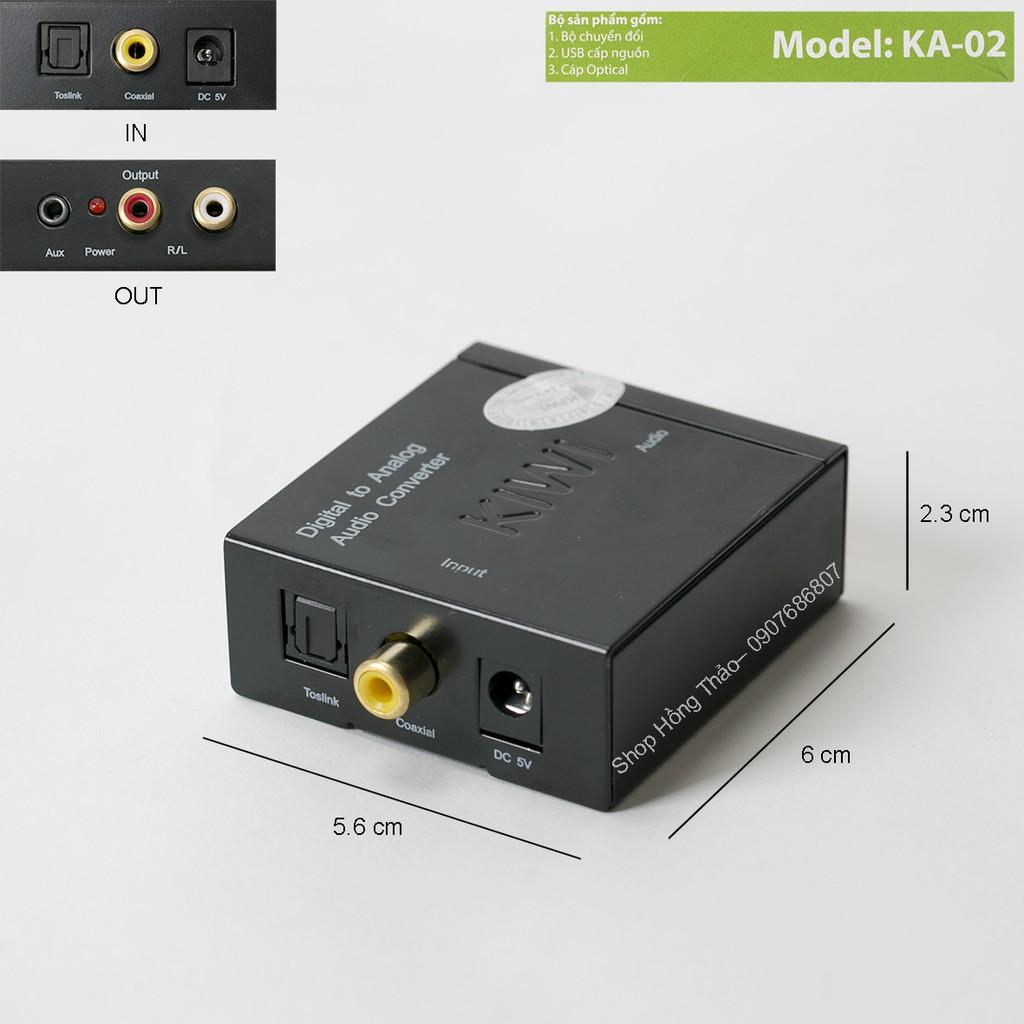 Hộp Kiwi chuyển đổi tín hiệu Coaxial-Optical sang Audio