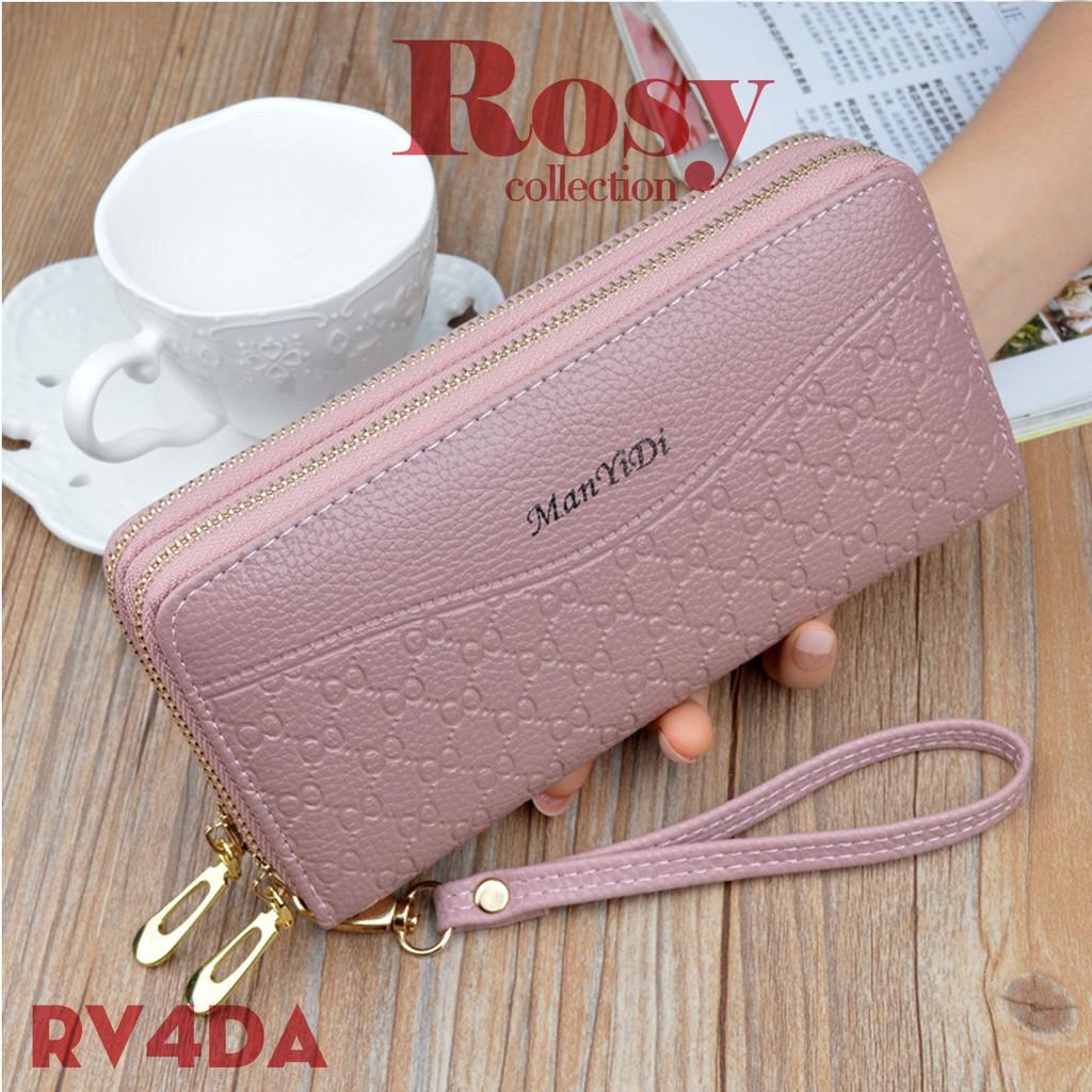 Ví cầm tay nữ, ví dài dự tiệc ROSY RV4 đựng tiền chất da PU mềm mại, siêu bền siêu đẹp