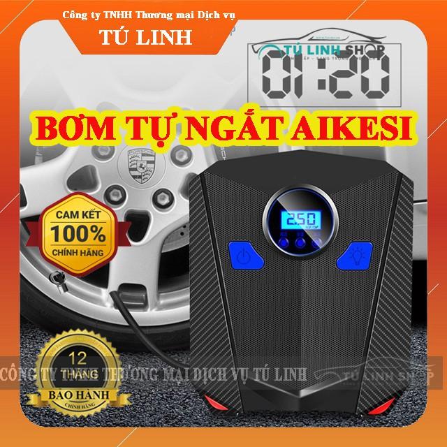 Bơm lốp ô tô, xe hơi điện tử tự ngắt AIKESI - Bảo hành 12 tháng