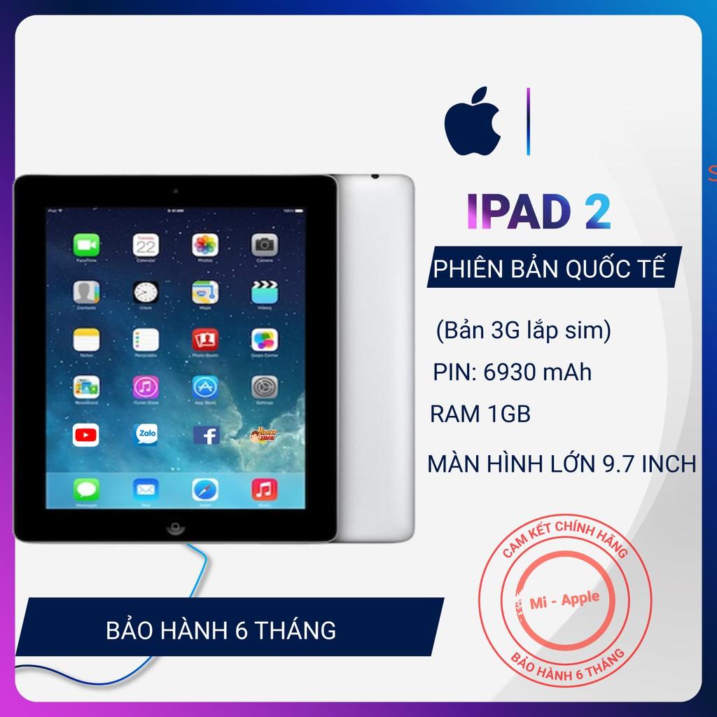 Máy tính bảng iPad 2 bản 3G lắp sim full phụ kiện