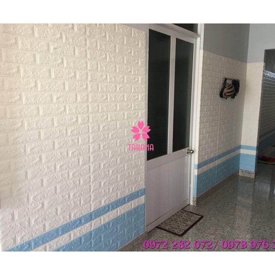 Miếng dán tường giả gạch 3d 70*77 xốp dán tường loại 1