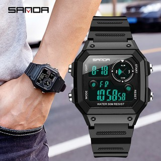Đồng hồ điện tử Sanda 418 đa năng chống thấm nước cho nam thumbnail