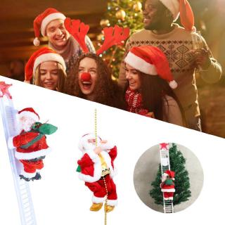 Special Singing Electric Stair Climbing Santa Claus Climbing Rope Elderly Toy