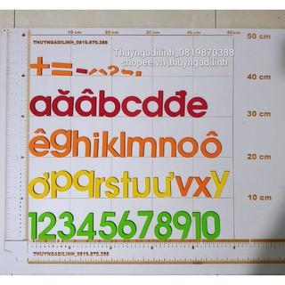 Bộ 29 chữ cái và 10 chữ số mút xốp 5 ly mầm non!