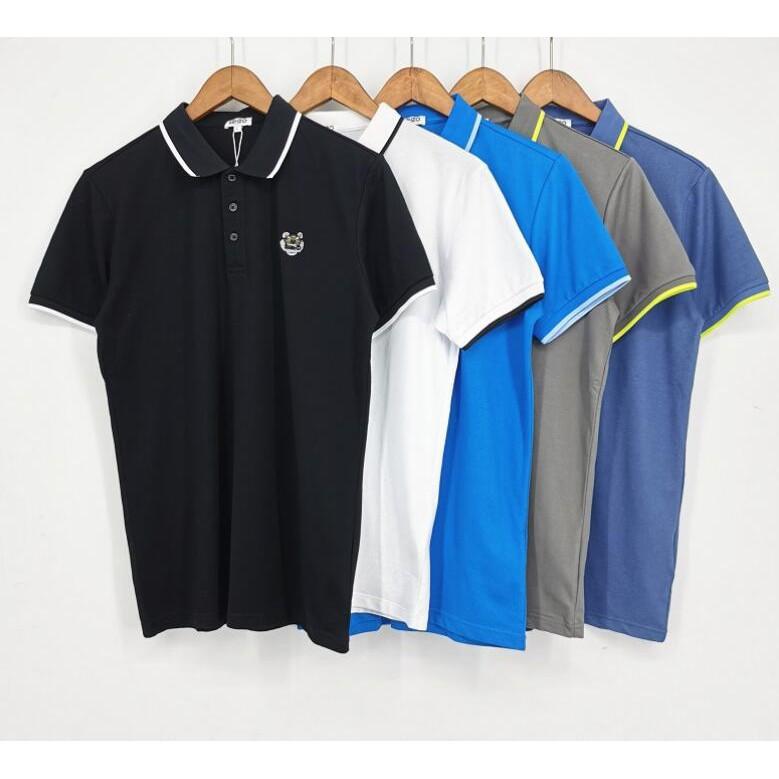 Áo Thun Polo Tay Ngắn Vải Cotton Thêu Hình Kenzo Thời Trang Cá Tính Cho Nam Nữ