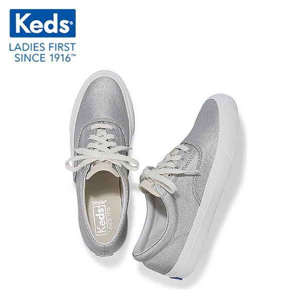 [WF59233] Giày Thể Thao Keds Nữ - Anchor Matte Brush Canvas Silver