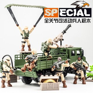 Military series soldier soldier special police DIY movable model human corner 6-