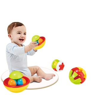 3pcs/set Baby Early Educational Toys Little Loud Jingle Ball Rattle Infant Baby