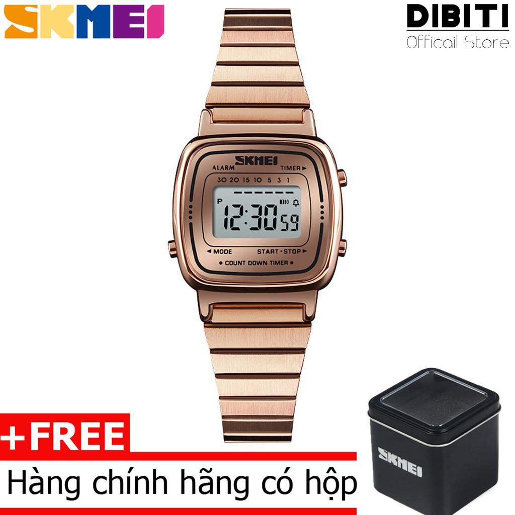 (CHÍNH HÃNG) Đồng Hồ Nữ mặt số điện tử Skmei DO53 Dual time Digital Watch