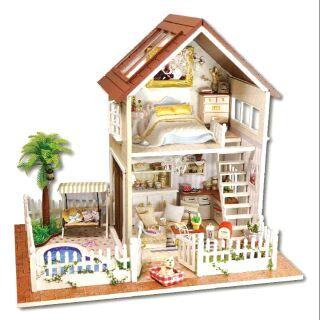 Kèm Mica và nhạc – Mô hình nhà gỗ búp bê dollhouse DIY – Paris Apartment