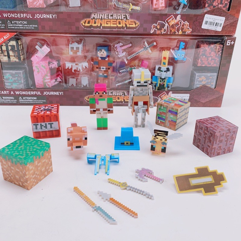 HOTBộ Đồ Chơi Mô Hình Nhân Vật Minecraft Dungeons-Lego Minecraft