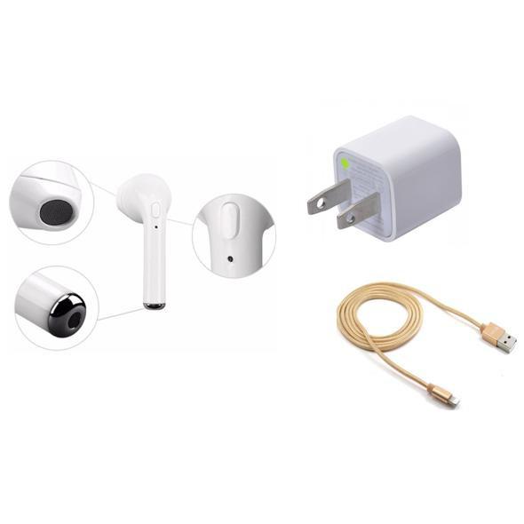 Bộ 3 tai nghe I7 + cốc sạc + dây sạc dành cho hệ điều hành IOS(giao màu ngẫu nhiên)