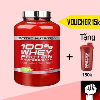 Whey Sữa Tăng Cơ Cho Người Tập Gym - Scitec 100% Whey Protein Professional 2.35Kg - Chính Hãng thumbnail