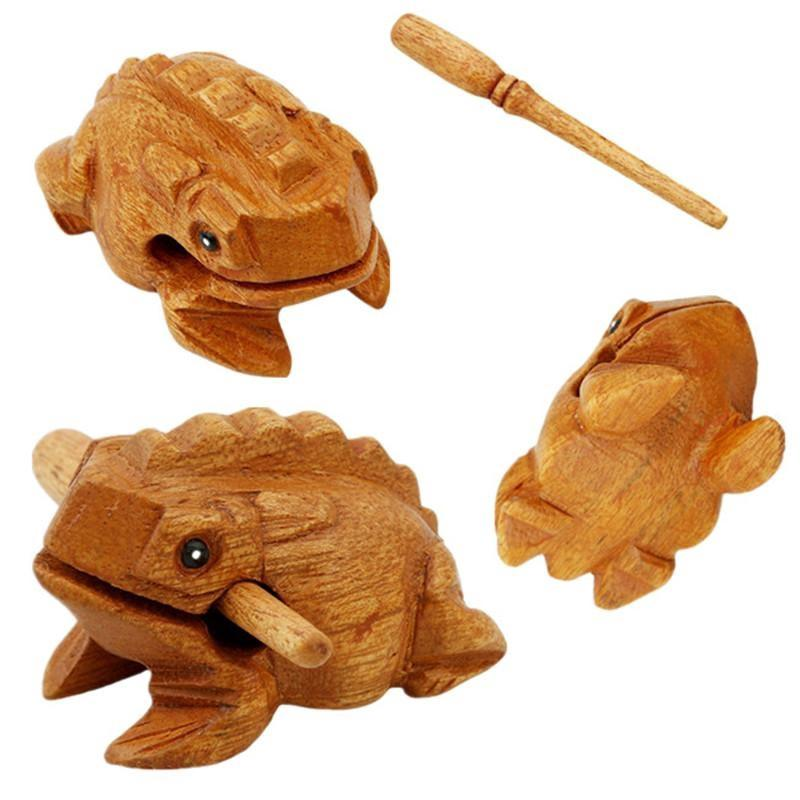 Funny Toys Wooden Frog Characteristic Music Beat Relieve Stress Child gift