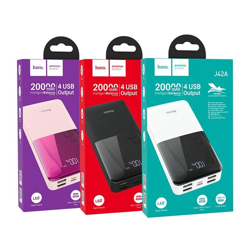 Sạc pin dự phòng Hoco J42A 20000mAh Chính Hãng - Ốp lưng iphone - Shin Case