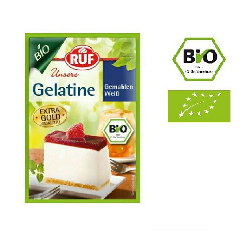 Gelatine hữu cơ / Bột Gelatin hữu cơ cho bé RUF nhập khẩu Đức