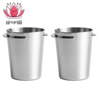 2Pcs Stainless Steel Dosing Cup Coffee Sniffing Mug Powder Feeder