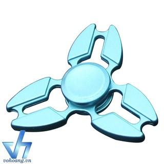 Fidget Spinner 3 cánh kim loại xanh botdaquang85 T86 nhập khẩu