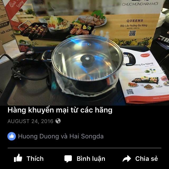 Bếp lẩu nướng khuyến mại Sony