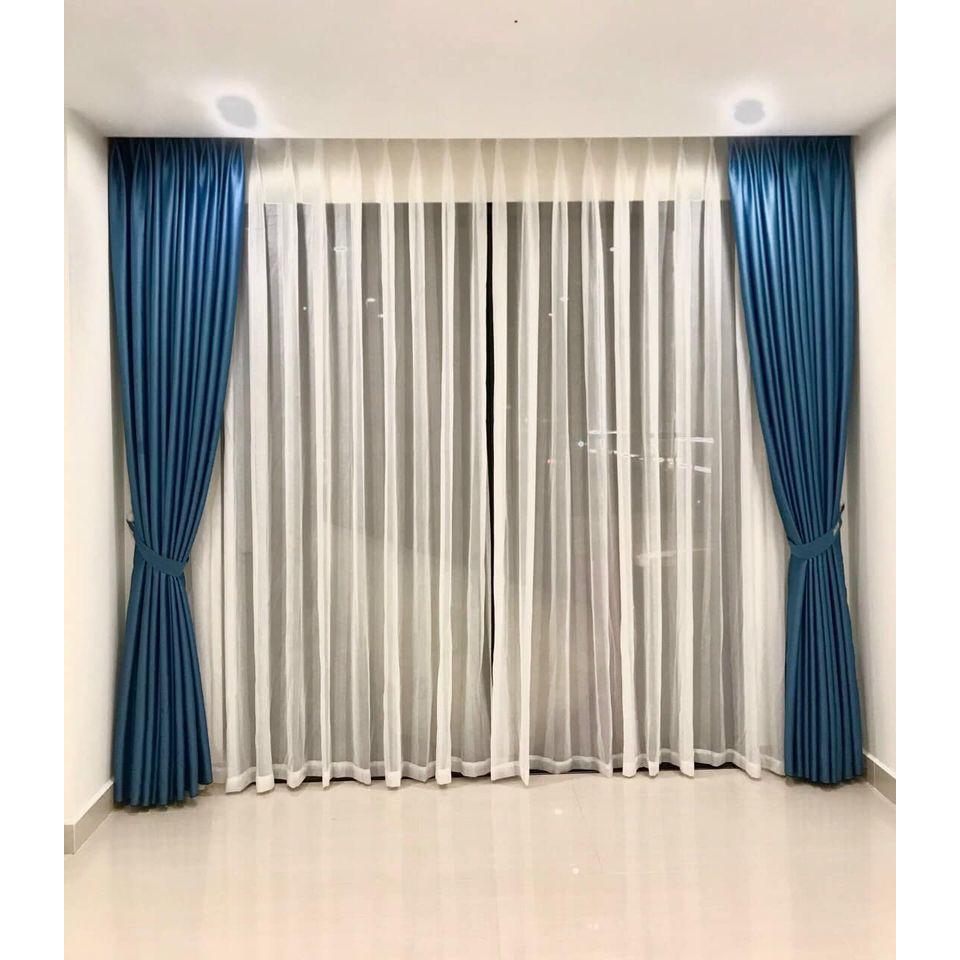 Rèm cửa màu xanh dương, rèm màu xanh dương, rèm cửa sổ màu xanh dương, rèm cửa giá rẻ màu xanh dương