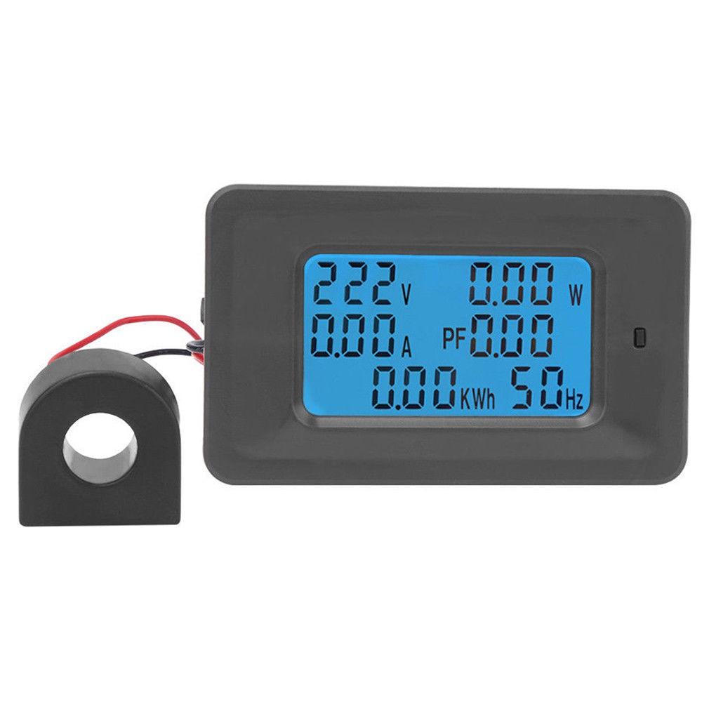 (TÙY CHỌN) Thiết bị đo công suất, công tơ điện, đồng hồ điện tử 6 thông số 100A hoặc 4 thông số 80A.