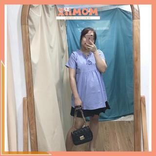 Áo bầu – áo bầu công sở đẹp chất đũi hàn freesize cho mẹ bầu tới 70kg – Xiimom