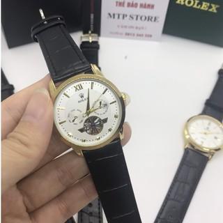 Đồng hồ Nam Rolex dây da mềm, thẻ bảo hành 12 tháng - Dong.ho.rolex