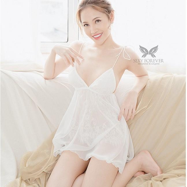 [Mã FAMALLT5 giảm 15% đơn 150k] Sexy Forever Váy Ngủ Sexy Hai Dây Sexy Forever Alaura