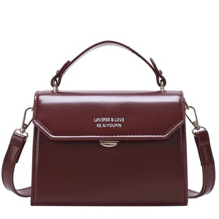 Túi đeo chéo xách tay nữ T08 19x18x14cm (Nâu đậm-Nâu sáng-Đen-Đỏ)