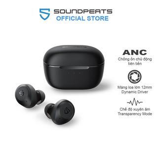 Tai nghe True Wireless Earbuds SoundPEATS T2 Chống ồn ANC, Xuyên âm, Pin 10h, Bluetooth V5.1 - Hàng chính hãng