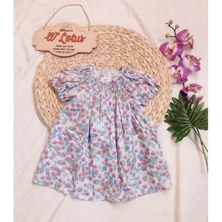Váy Smock xuất Âu hoa nhí vintage bé gái size 12m- 10 tuổi