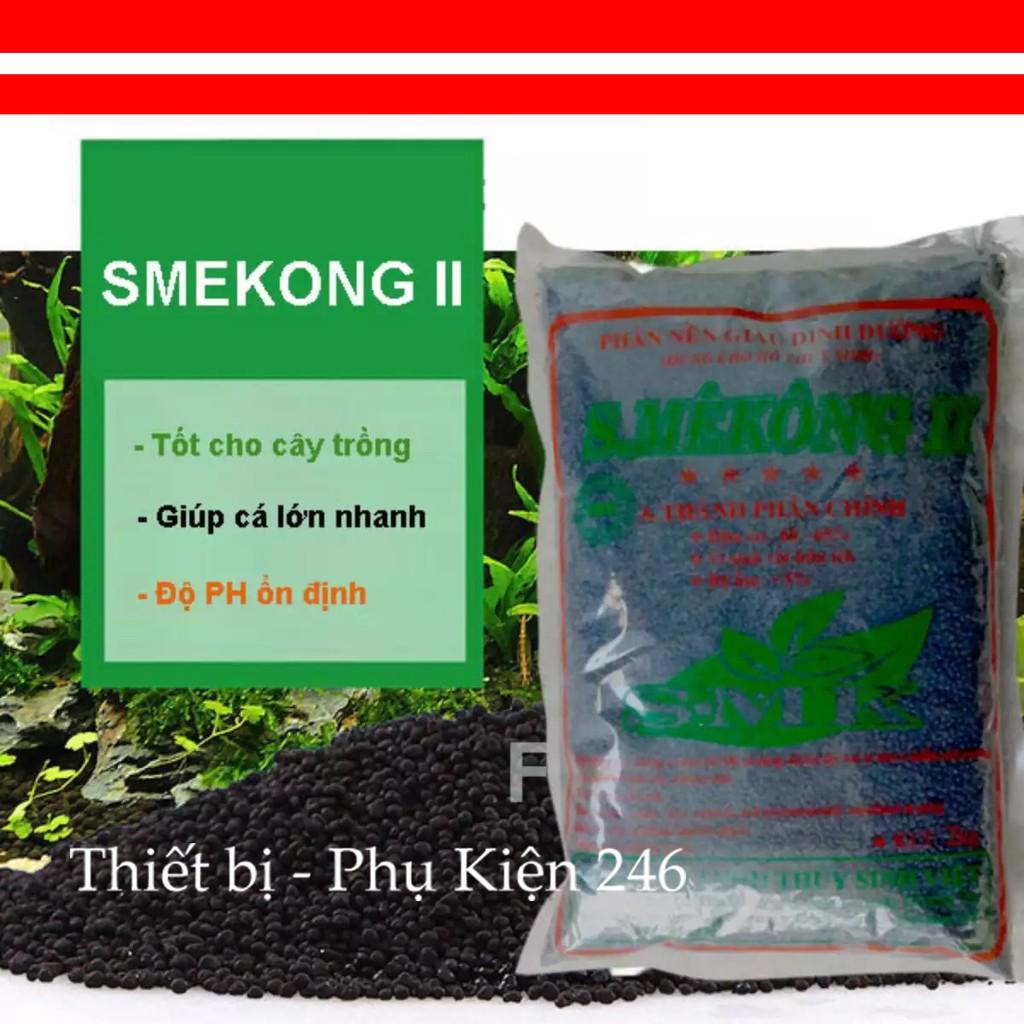 Phân Nền S.Mêkông 2 kg dạng túi, cho cây thủy sinh, bể cá, ao cá, hồ cá