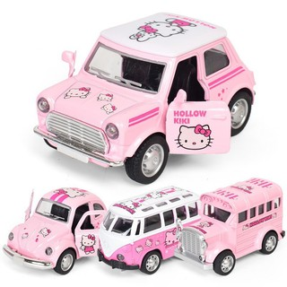 T&DChildren's Doraemon Jingle Cat Q Version Hello Kitty Bus Toy Car