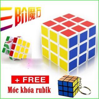 [GIÁ SỐC] Rubik đẹp, xoay trơn, không rít, độ bền cao, Rubik 3×3 Tặng kèm móc khóa