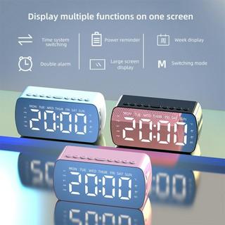 [Mã ELFLASH5 giảm 20K đơn 50K] Loa Bluetooth G10 mặt gương hiển thị LED- Loa Bluetooth- Đài FM- Đồng Hồ Báo Thức
