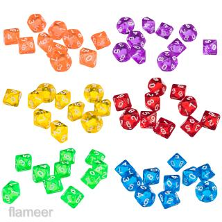 60pcs Ten Sided D10 Dice for Dungeons & Dragons D&D TRPG Board Games Toys