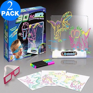 ( GIÁ SỈ ) Bảng Vẽ tranh 3D cho bé (Magic 3D Drawing Board)