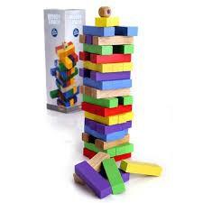 [CỰC ĐẸP] - Bộ đồ chới rút gỗ màu 54 thanh cho bé