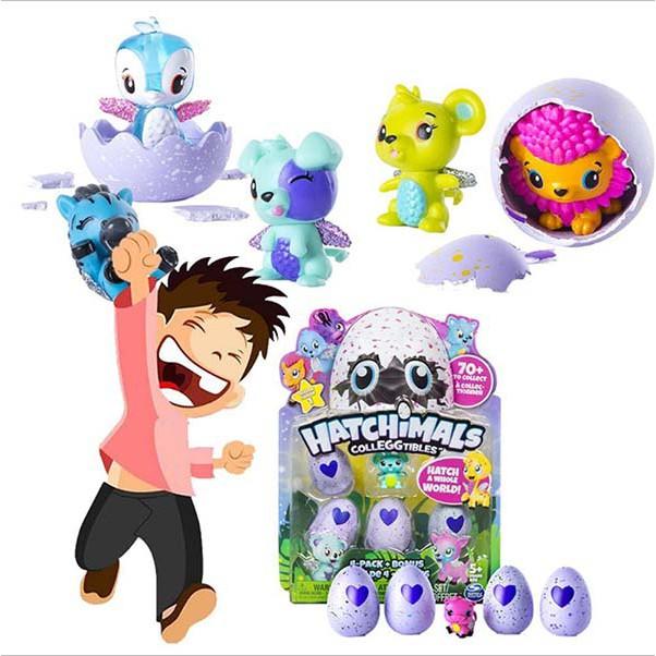 Bộ đồ chơi trứng nở Hatchimals ( vỉ 4 quả )