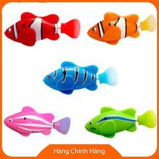 Đồ chơi nhà tắm Cá robo fish cá bất tử chạy pin tặng kèm 2 pin xanh biển đỏ hồng vàng xanh lá cam AZWZTSV9