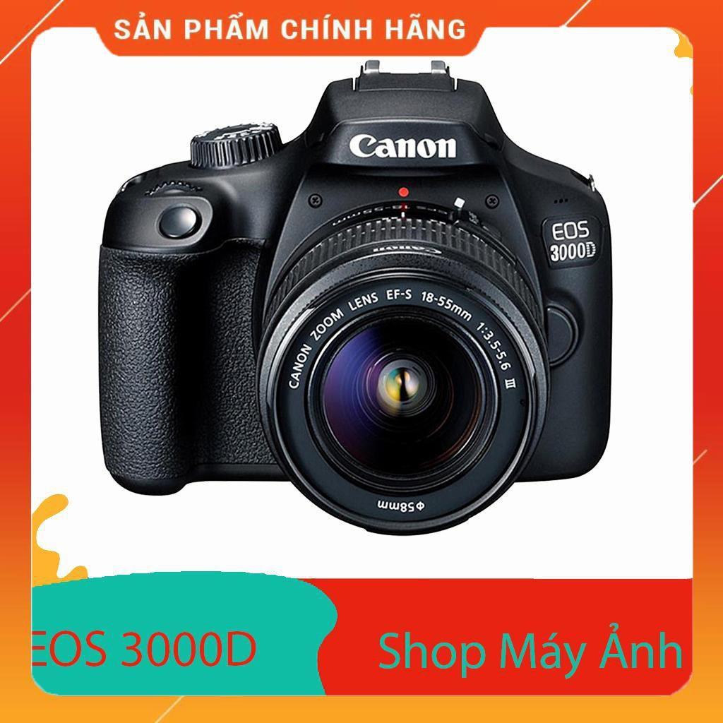 Máy Ảnh Canon EOS 3000D + Lens EF-S 18 - 55mm III (Lê Bảo Minh) - Hàng Chính hãng