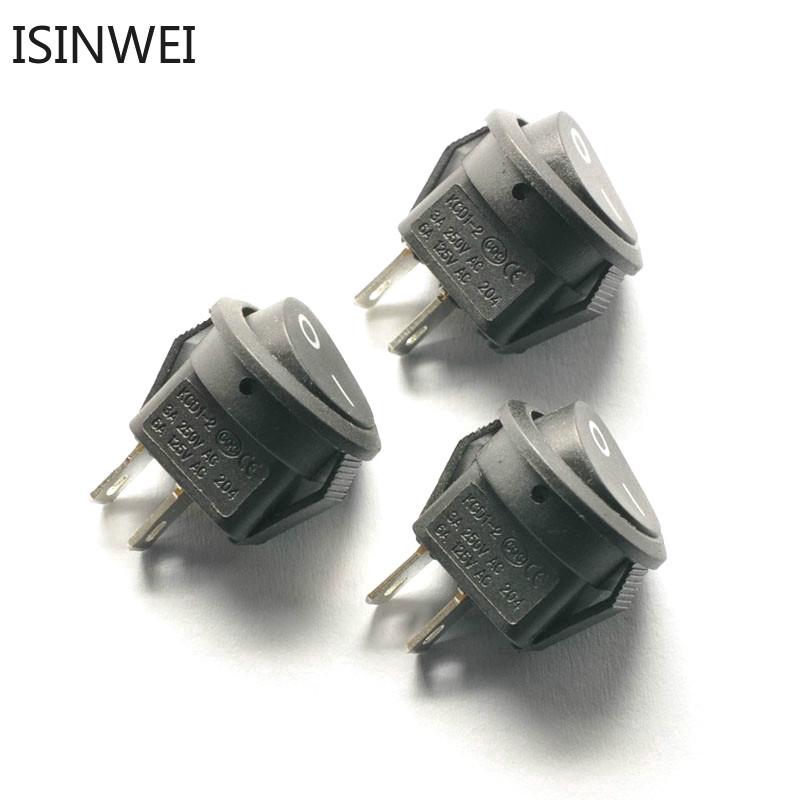Set 10 công tắc đóng mở điện tiện ích KCD1-204 16.5mm 3A/250V 6A/125V