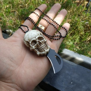 Dây truyền đầu lâu có lưỡi dao nhỏ gọn mini tiện lợi khi đi phượt du lịch thumbnail