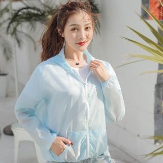 Quần áo chống nắng tia cực tím, áo khoác dài tay trong suốt, chống tia cực tím, mặc áo chống nắng đi biển mùa hè thumbnail