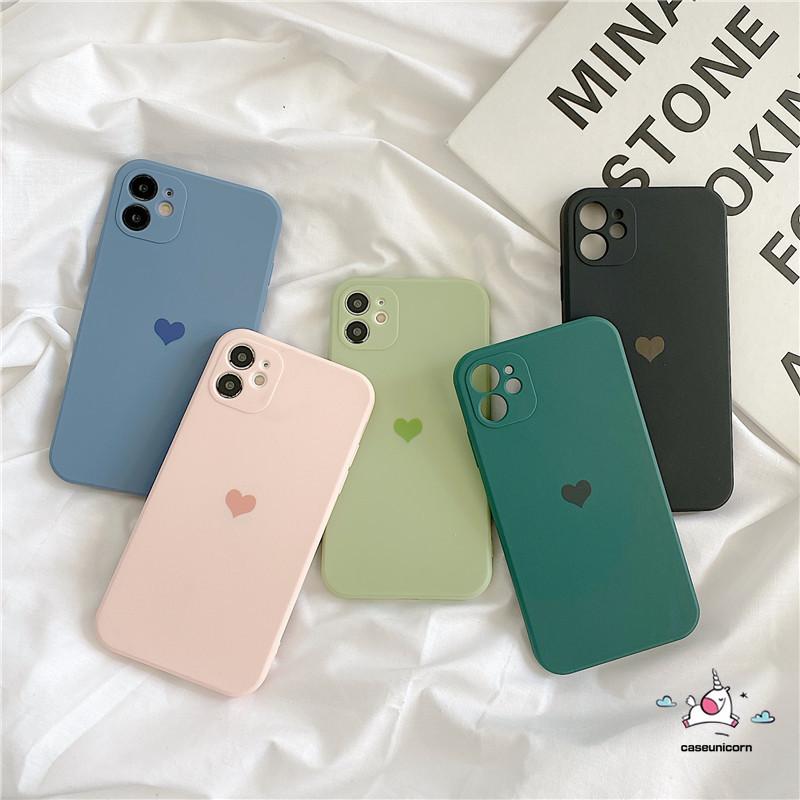Ốp điện thoại Silicon TPU họa tiết trái tim đơn giản cho iPhone 11 7plus 8plus 6 6s Plus 7 8 X XR XS MAX SE