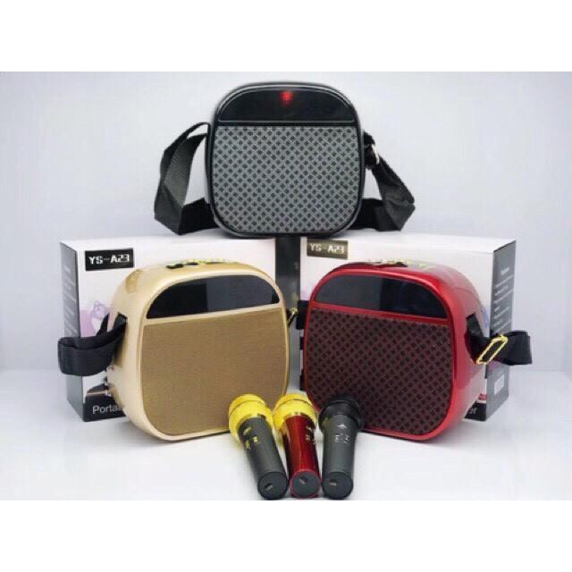 Loa bluetooth xách tay YS A23 kèm micro ko dây âm thanh cực chuẩn