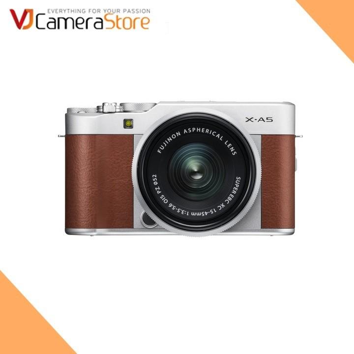Fujifilm X-A5(Nâu) + XC 15-45mm F/3.5-5.6 OIS PZ - Tặng kèm thẻ nhớ 16GB, Filter UV , Túi Mirroless Human