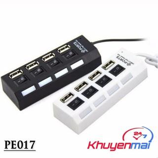 Hub USB 4 cổng hình ổ điện có công tắc thumbnail