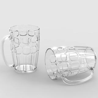 Ly cốc nhựa trong có quai Song Long 300ml